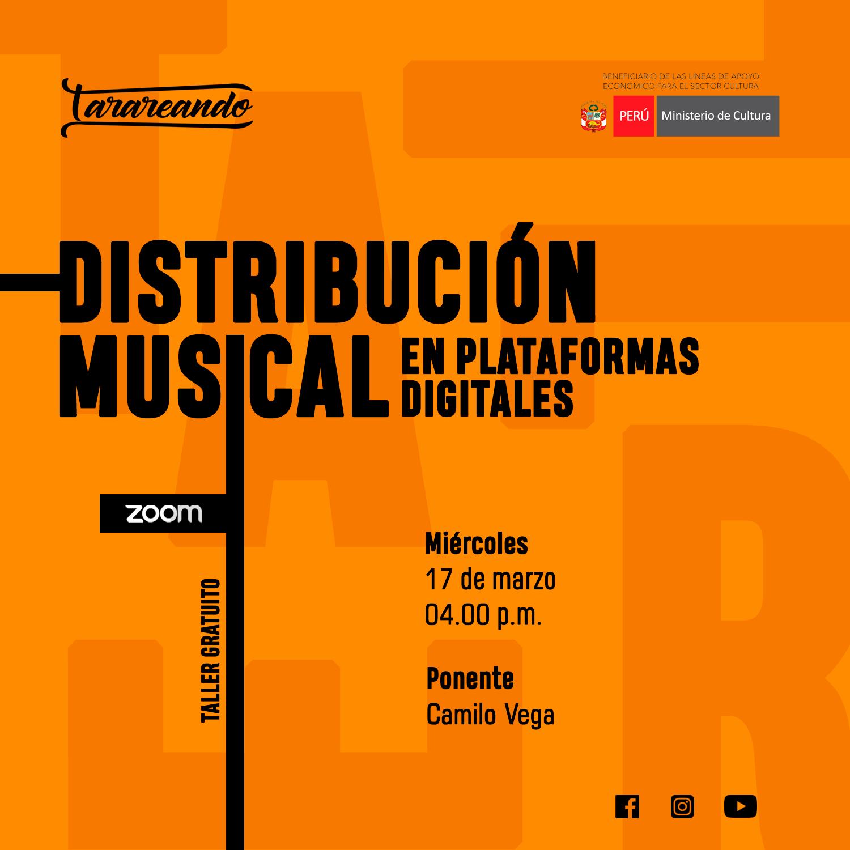 Taller Gratuito de Distribución Musical en Plataformas Digitales