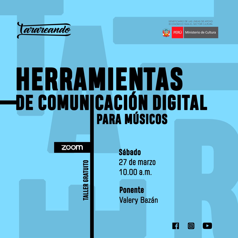 Taller Gratuito Herramientas de Comunicación Digital Para Músicos